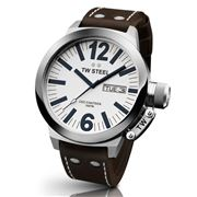 TW Steel - CEO Canteen 45mm Watch with White Dial