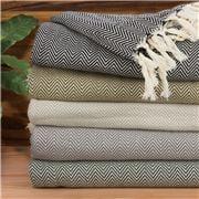 Linen & Moore - Pasha Teal Throw Rug