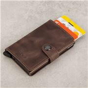 Secrid - Vintage Leather Chocolate Mini Wallet