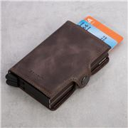 Secrid - Vintage Chocolate Leather Twin Wallet