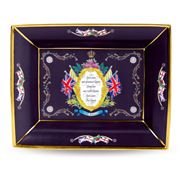 Halcyon Days - HMQ Elizabeth II Vivat Regina Purple Tray