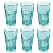 IVV - Industrial Chic Turquoise Highball Tumbler Set 6pce