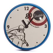 Vespa - Round Go Blue Wall Clock