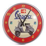 Vespa - Round Red Bike Wall Clock