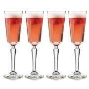 Libbey - Vintage Modern Capone Champagne Flute Set 4pce