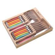 Laguiole - Spring Debutante Multicoloured Cutlery Set 12pce