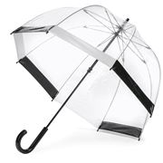 Clifton - Birdcage Umbrella with Black and White Border