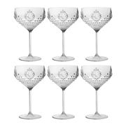 Baci Milano - Baroque Clear Cocktail Set 6pce
