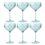 Baci Milano - Baroque Aqua Cocktail Set 6pce
