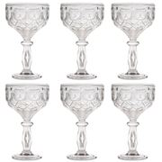 Baci Milano - Neo Barocco Arabesque Silver Cocktail Set 6pce