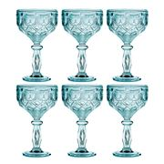 Baci Milano - Neo Barocco Diamante Aqua Cocktail Set 6pce