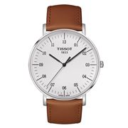 Tissot - Everytime Lge Silver Dial Wristwatch w/ Beige Strap