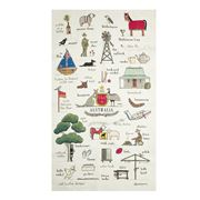Rodriquez - Red Tractor This is Australia Tea Towel