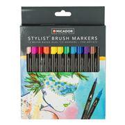 Micador - Stylist Brush Marker Set 12pce