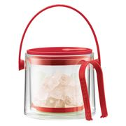 Bodum - Cool Red Ice Bucket with Tongs 1.5L