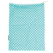 AT - Aqua Polka Dot Travel Laundry Bag