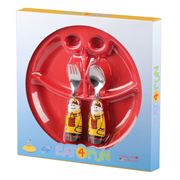 Eat4Fun - Fireman Kids' Cutlery & Plate Set