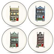 Squidinki - Inner City Collection Canape Plate Set 4pce