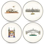 Squidinki - Sydney Harbour Collection Canape Plate Set 4pce