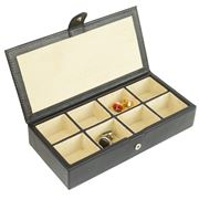 Redd Leather - Leather Cufflink Box Black