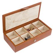 Redd Leather - Cognac Leather Cufflink Box