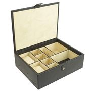 Redd Leather - Leather Luxury Accessories Box Black