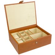 Redd Leather - Large Cognac Leather Accessories Box