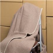 Onkaparinga - Australian Wool Latte Blanket