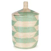 Tribe Home - Large Mint Laundry Basket with Lid