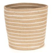Tribe Home - Classic Jute Tapered Pot with Stripe Large