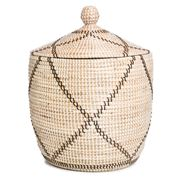 Tribe Home - Diamond Black & White Basket