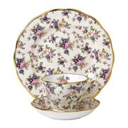 Royal Albert - 100 Years 1940s Chintz Teacup Saucer & Plate