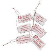 Swish Collection - Santa Baggage Style Tag Set 6pce