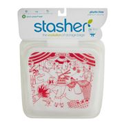 Stasher - Stasher Red Circus Lunch Bag 450ml
