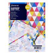Filofax - A5 2017 Illustrated Geometric Diary Pack