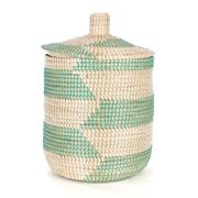 Tribe Home - Mint Laundry Basket with Lid Small