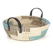 Tribe Home - Medium Black and Blue Tray with handles