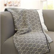 Otto & Spike - Daedalus Square Throw Charcoal