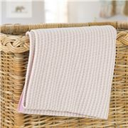 Otto & Spike - Nannas Knots  Cot Blanket Pink