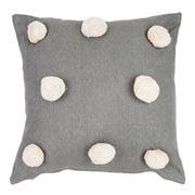 Raine & Humble - Pom Pom Grey Cushion