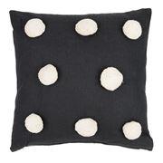 Raine & Humble - Pom Pom Black Cushion