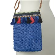 Condura - Harper Blue Crochet Hip Bag