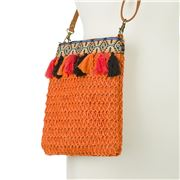 Condura - Harper Orange Crochet Hip Bag