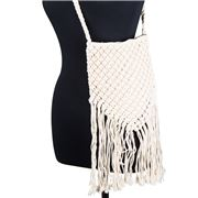 Condura - Zara Natural Macrame Cross Body Bag