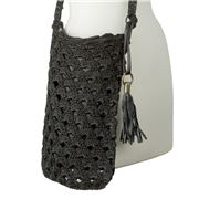 Condura - Mia Black Crochet Sling Bag