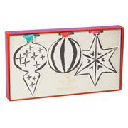 Kate Spade - Paper Ornament Set 6pce
