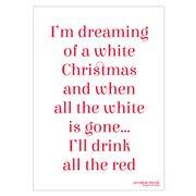 A.T. - I'm Dreaming Of A White Christmas Tea Towel