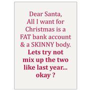 AT - Fat Skinny Christmas Tea Towel