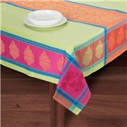 French Linen - Caprice Jacqard Rust Tablecloth 160x200cm