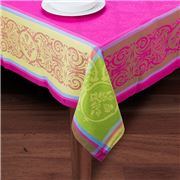 French Linen - Renaissance Fuschia Tablecloth 160x200cm